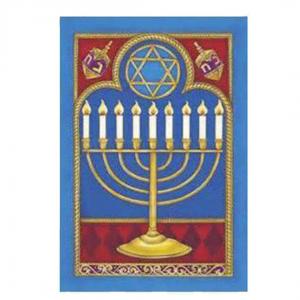 Hanukkah House Flag