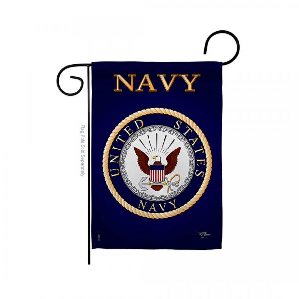 Navy Garden Flag