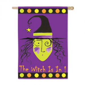 The Witch Is In House Flag