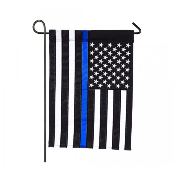 U.S. Blue Stripe Applique Flag