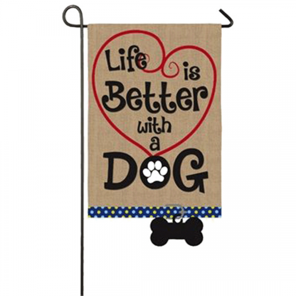 Life Is Better With A Dog Flag