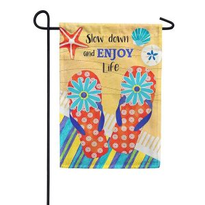 Enjoy Life Garden Flag