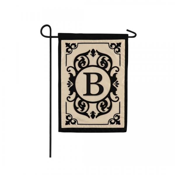 """""""B"""" Monogram Garden Flag"""