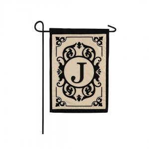 """""""J"""" Monogram Garden Flag"""