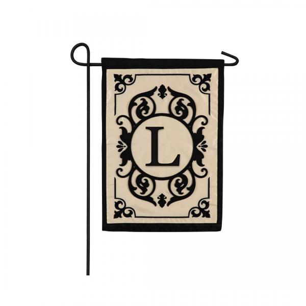 """""""L"""" Monogram Garden Flag"""