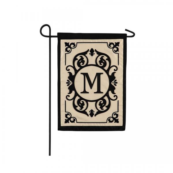 """M"" Monogram Garden Flag"