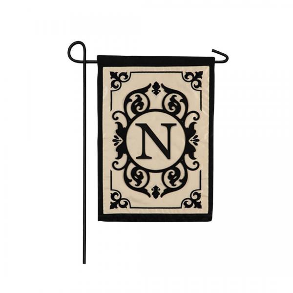 """""""N"""" Monogram Garden Flag"""