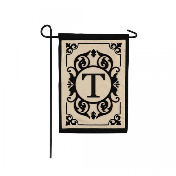"""""""T"""" Monogram Garden Flag"""