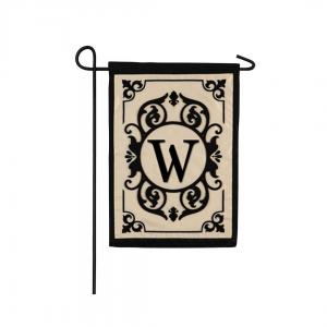 """W"" Monogram Garden Flag"