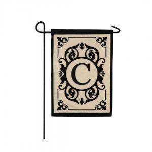 """C"" Monogram Garden Flag"