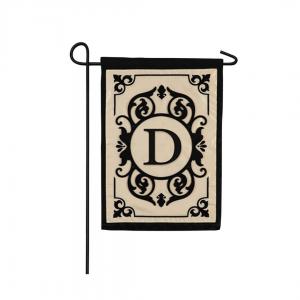 """""""D"""" Monogram Garden Flag"""