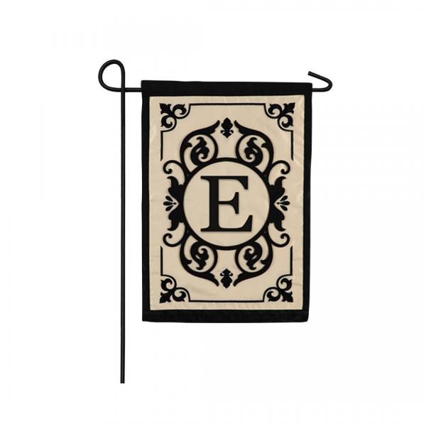 """""""E"""" Monogram Garden Flag"""