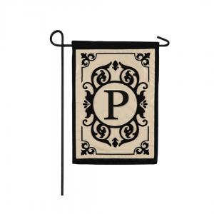"""P"" Monogram Garden Flag"