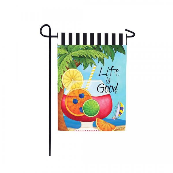 Life is Good Garden Flag