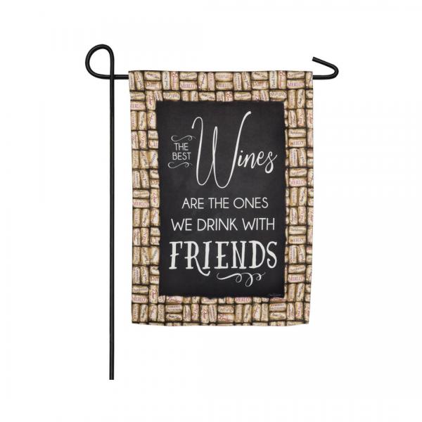 Wine With Friends Garden Flag