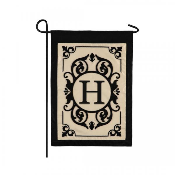 """H"" Monogram Garden Flag"