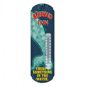 Mermaid Inn Metal Thermometer