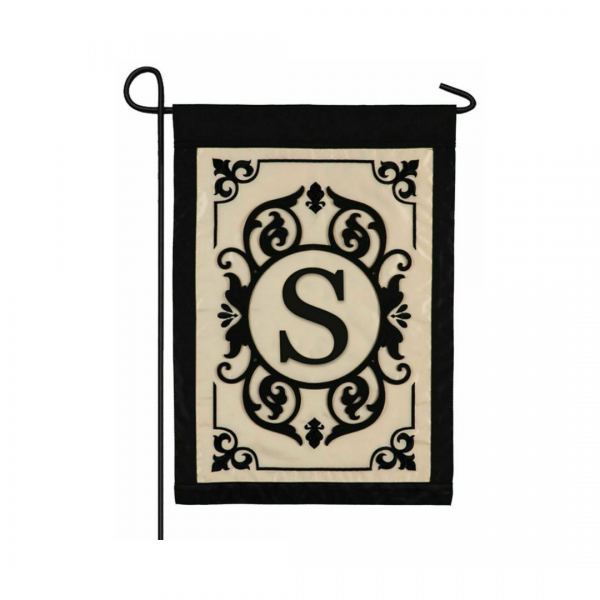 """""""S"""" Monogram Garden Flag"""