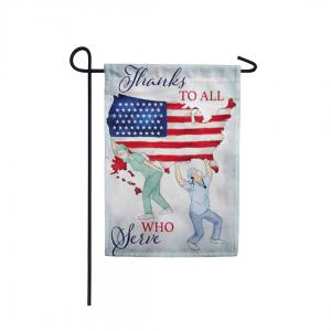 Thanks to All Who Serve Garden Flag