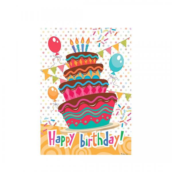 Happy Birthday Cake Garden Flag