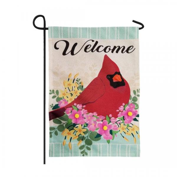 Spring Floral Cardinal Garden Flag