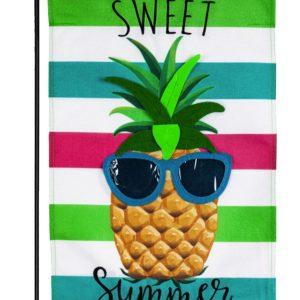Sweet Summer Pineapple Burlap Garden Flag