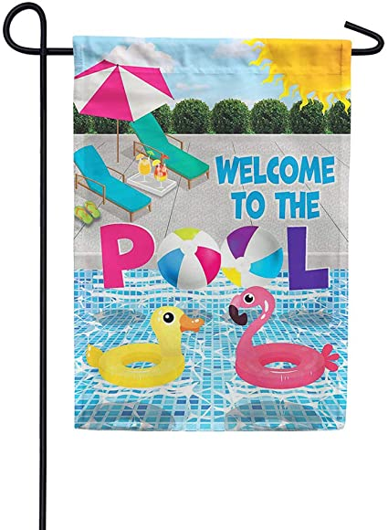 Welcome to the Pool Garden Flag