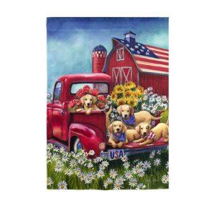 Americana Dogs Garden Flag