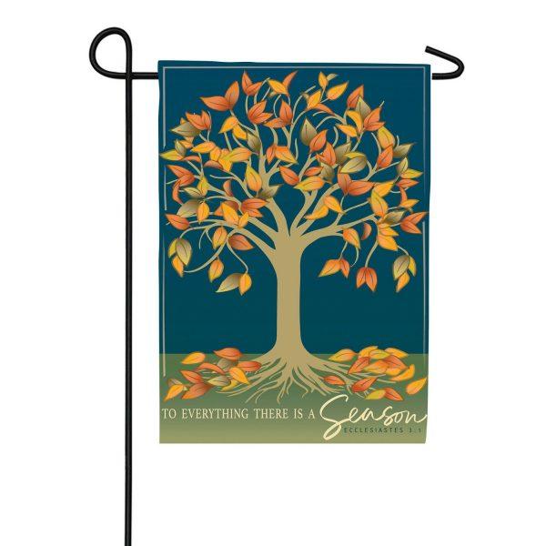 Autumn Tree of Life Applique Garden Flag