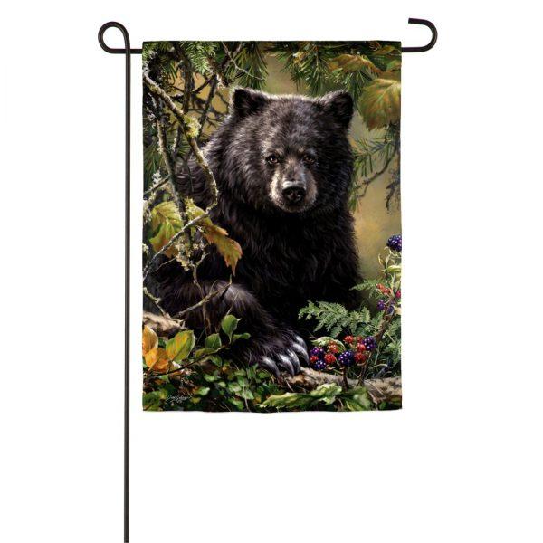 Black Bear Woods Garden Flag