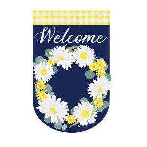 Daisy Wreath House Flag