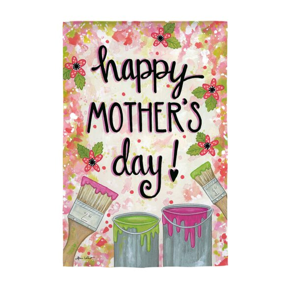 Happy Mother's Day Dropcloth Garden Flag
