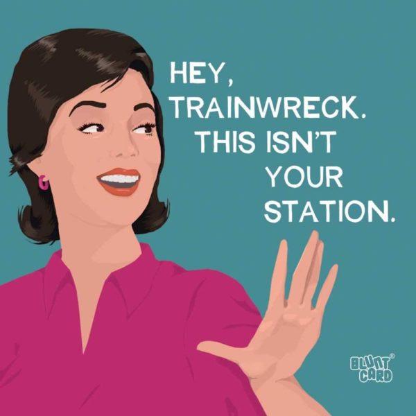 Hey, Trainwreck Cocktail Napkin