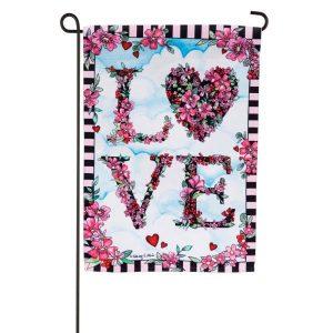 Floral Love Garden Flag