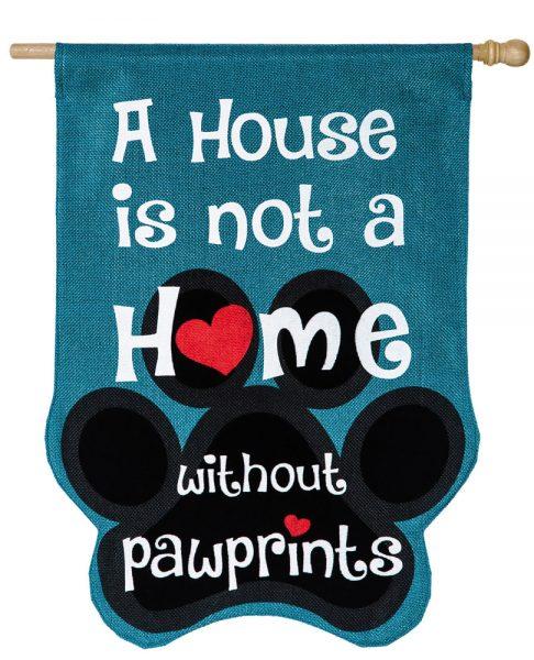 Paw Prints House Flag