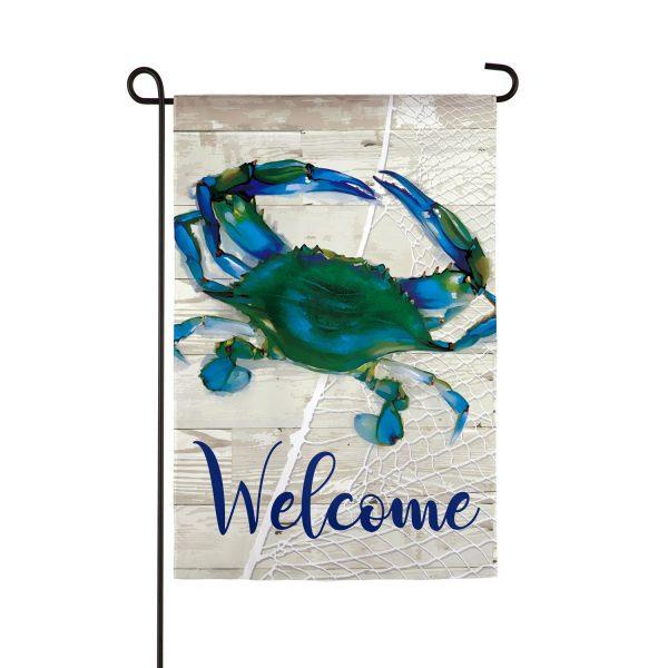 Blue Crab Garden Flag