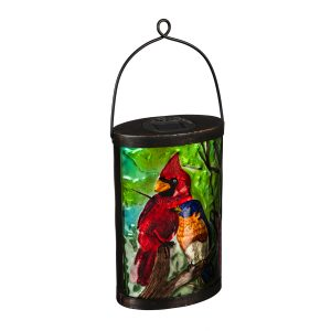 Cardinal & Blue Bird Solar Lantern