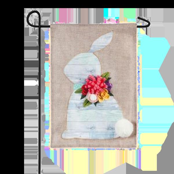Shiplap Bunny Garden Flag