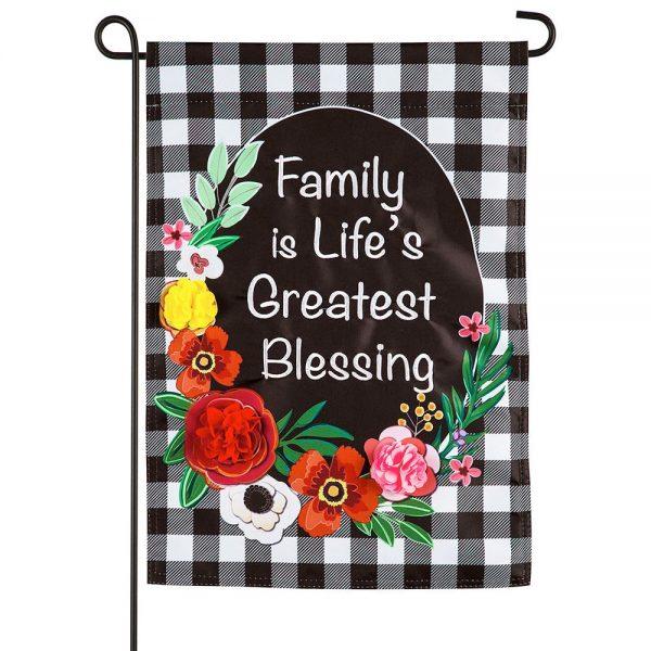 Family is Life's Greatest Blessing Garden Flag