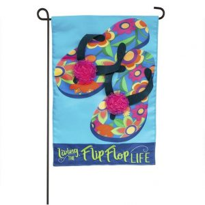 Flip Flop Life Applique Garden Flag