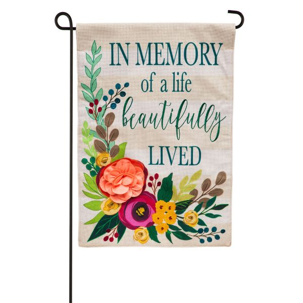 In Memory of a Life Beautifully Lived Garden Flag