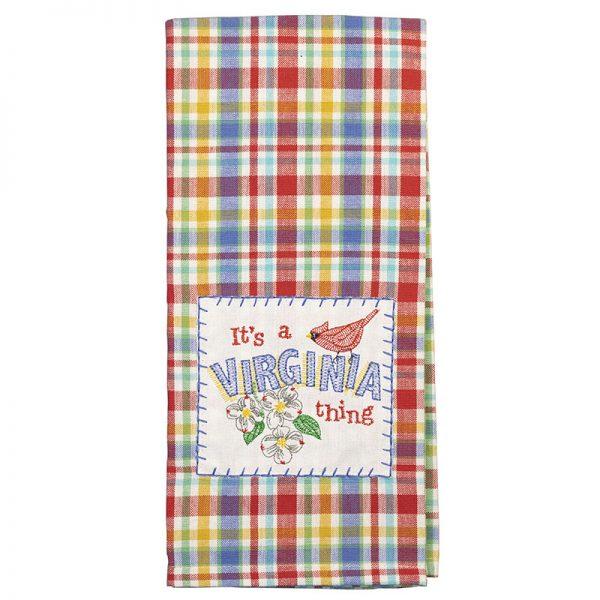 It's a Virginia Thing Plaid Dish Towel