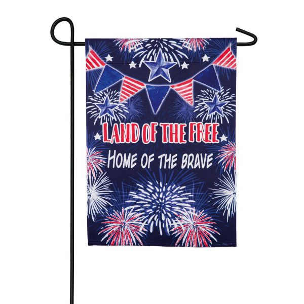 Land of the Free Suede Garden Flag