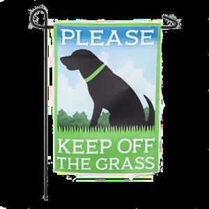 Keep Off Grass Garden Flag