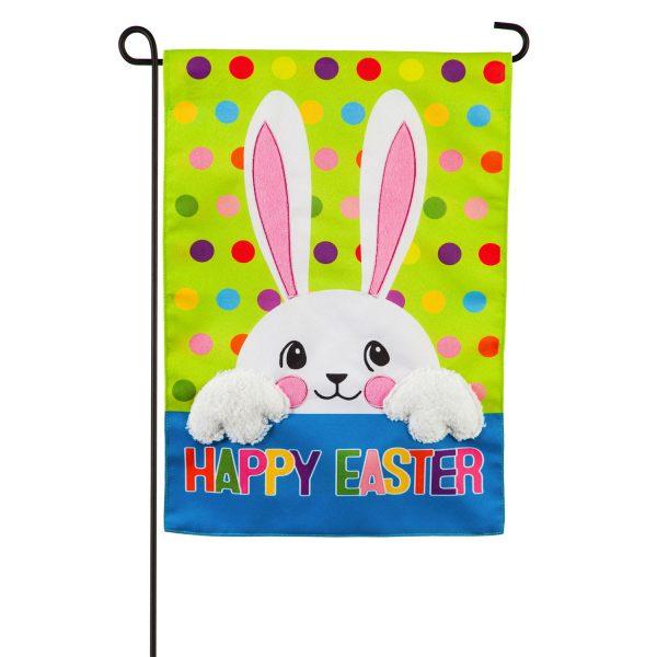 Polka Dot Easter Bunny Garden Flag