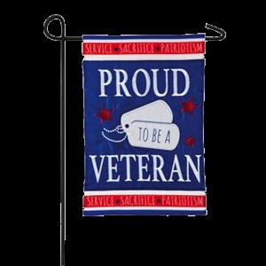 Proud Veteran Garden Flag