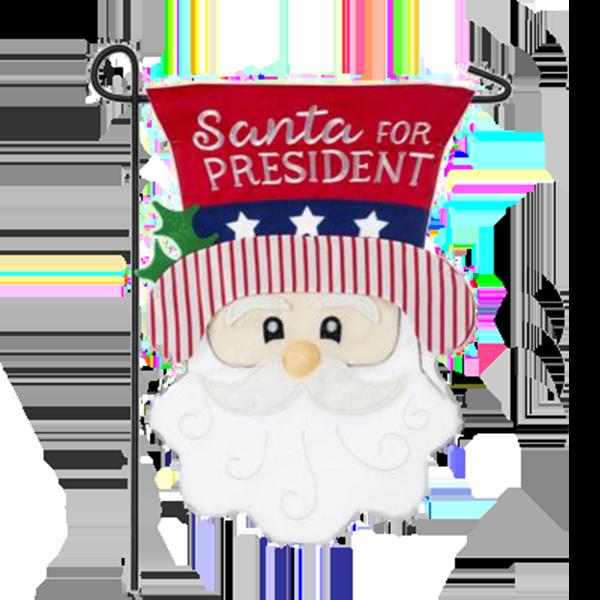 Santa For President Garden Flag