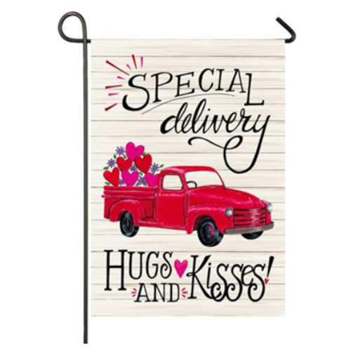 Special Delivery Truck Garden Flag