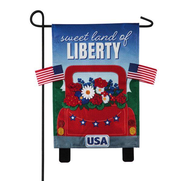 Sweet Land of Liberty Truck Garden Flag