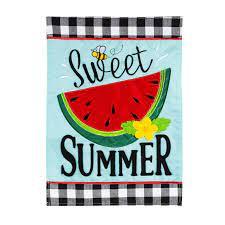 Sweet Summer Watermelon Garden Flag